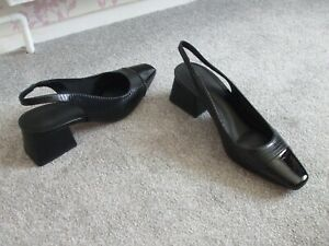 """BRAND NEW TAGs LADIES SHOES by ASOS SIZE 5 BLACK LIZARD """"SANDERSON"""" CHUNKY HEEL"""
