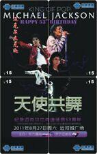 Michael Jackson 4 telefoonkaarten/télécartes  (MJ64-77 4p)