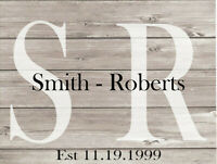 Your 2 names Custom Personalized Family Name Hyphen 9x12 Metal Sign SS184