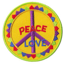 patch Ecusson thermocollant patche Peace & Love Hippies Paix couleur écusson