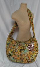 Authentic Susan Riedweg Multi Color Graphic Leather Hand Made X-Large Hobo Bag