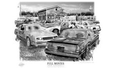 """CHEVY MONTE CARLO """"RUSTY RELICS""""  MUSCLE CAR  ART PRINT   ** FREE USA SHIPPING *"""