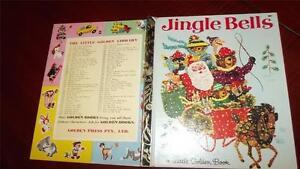 JINGLE BELLS Little Golden book #307 SYD *1964* 1st 4SQ SANTA bear J P MILLER