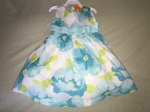 NEW 12 18 MONTHS GYMBOREE TULLE DRESS BLUE FLOWERS EASTER 2014