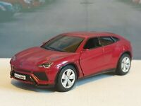 PERSONALISED LAMBORGHINI URUS RED  1.38 DIECAST MODEL TOY CAR NEW BOYS TOYS GIFT