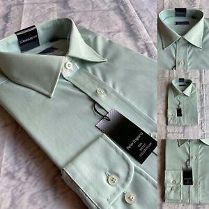Peter England Plain Shirt, Sizes 16,16.5,17,17.5, Sage Green, BNWT
