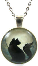 Cat Necklace Black Jewelry Kitten Pendant Xmas Gift for Holiday Cute Cheap Teens