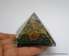 Orgone Pyramid Crystal healing Reiki Energy BLACK TOURMALINE Orgonite Pyramid