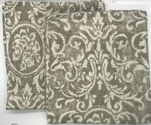 2 Restoration Hardware RH Italian Vintage Baroque Lumbar Pillow Sham Prairie