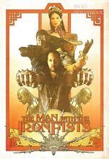 Original MAN WITH THE IRON FISTS Tarantino RZA Martial Arts WILDING POSTER CAST