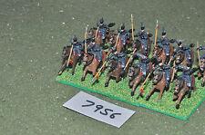 20mm napoleonic / prussian - uhlans 12 cavalry plastic painted - cav (7956)