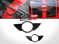 (2) Rear & Front Carbon Emblem Badge Cover for Mini Cooper Countryman S R60 Mk1
