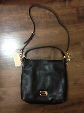 MICHAEL KORS Bedford LEATHER Purse Satchel Bag Black Gold NWT Nordstrom 50% OFF