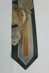 PANCALDI Made in Italy Blues Brown Silk Tie