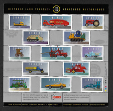 Canada -Pane of 13 Stamps -Historic Land Vehicles Collections #1605(Half) -MNH