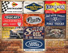 Job Lot 10 x METAL TIN SIGN WALL PLAQUE VINTAGE STYLE GARAGE WORKSHOP  #20