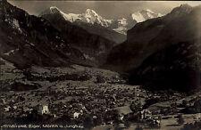 Wilderswil Kanton Bern Schweiz 1926 Gesamtansicht mit Eiger Mönch und Jungfrau