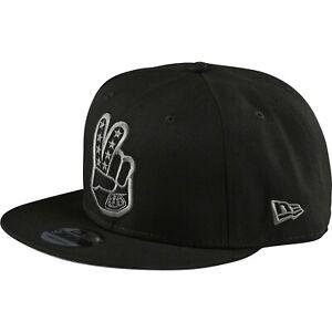 Troy Lee Designs Snapback Hat Cap TLD MX Motocross Bmx Mtb Dh PEACE SIGN BLACK