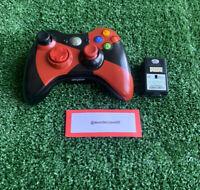 Genuine Radioactive Microsoft Xbox 360 Wireless Controller Red/Black