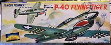 RARE SILVER AURORA P-40 [1955?] CURTISS WARHAWK/FLYING TIGER 1/48 W BKLYN BASE
