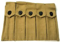 WWII US M1 5 CELL 20RD AMMO BELT POUCH-OD#3