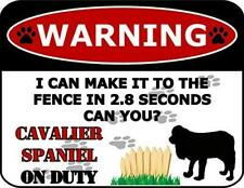 Warning I Can Make It to The Fence in 2.8 Seconds Can You? Cavalier Spaniel