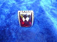 _Anello elegante__Argento 925__con rossa Pietra _vetro cristallo sfaccettato___