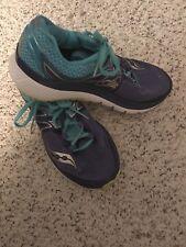 Women's SAUCONY Triumph 3 ISO FIT EVERUN Running Shoes SIZE 9 US Purple Blue