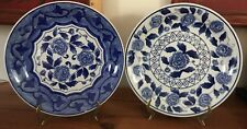 """Lovely  Blue And White Bella Casa Collection Set of 2 Dinner 10"""" Display"""