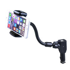 Universal Rotating Car Mount Holder For Cell Phone with Dual USB Charger Adapter