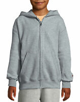 Champion Kids Hoodie Sweatshirt Double Dry Action Fleece Full-Zip Boy Girl Heavy