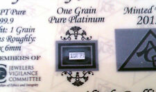 x2 - ACB Platinum SOLID BULLION MINTED 1GRAIN PT BAR 99.9 Pure W/certificate