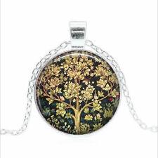 William Morris Tree Tibet silver Glass dome Necklace chain Pendant Wholesale