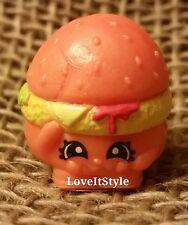 NEW Shopkins Season 1 Rare orange Cheezey B 1-099 figure Party Food cheeseburger