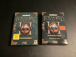 Windows PC Icewind Dale II 2 + Adventure Pack Complete RARE Sealed Cards