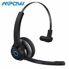 Mpow Bluetooth Headset kabelloser On-Ear Kopfhörer für LKW-Fahrer Callcenter DE