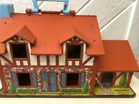 Play Family Tudor Brown House #952 Little People Vintage Fisher-Price