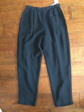 New Chaus Womens Pants High Waist Pleated sz 12 polyester side zip /button $98