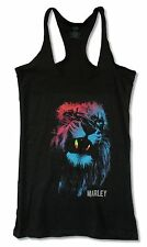 "BOB MARLEY ""LION"" BLACK TANK TOP SHIRT NEW OFFICIAL ADULT RASTA REGGAE LADIES L"