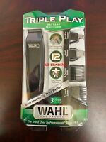 WAHL 3-In-1 Nose Ear Beard Hair BATTERY GROOMER Precision Blade Detailer Trimmer