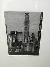 GALLI Federica, Milano. Acquaforte originale firmata. 1972 - cornice vetro