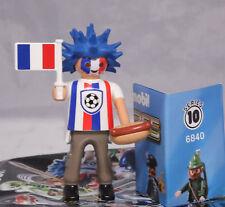 Playmobil 6840 Figures Boys Serie 10, Franzose Fussball Fan mit Hotdog #2 NEU