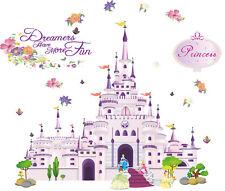 wall stickers princess castle Disney Nursery decor kids removable PVC art decal