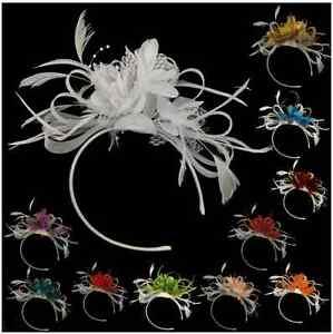 Bespoke Feather Hair Fascinator Headband Wedding and Royal Ascot Races Ladies