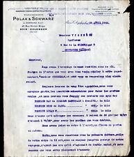 """BOIS-COLOMBES (92) ESSENCES FINES / AROMES de FRUITS """"POLAK & SCHWARZ"""" en 1923"""