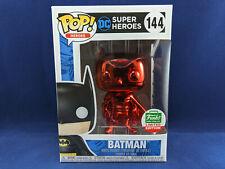 BATMAN 144 Chrome Red DC Super Heroes Funko Pop Exclusive Vinyl Funko Shop NEUF