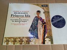 GILBERT & SULLIVAN - PRINCESS IDA - HIGHLIGHTS SARGENT - LP - DECCA SKL 4845 (4)