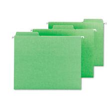 Smead Fastab Hanging File Folders, Letter, Green, 20/box