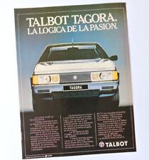 TALBOT Tagora / Advert Publicidad Publicite Reklame Coche Car Voiture Spanish Ad