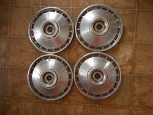 Chevy Chevrolet Vintage Hubcaps 1960's ? AS IS as found Unknown Model Lot of 4